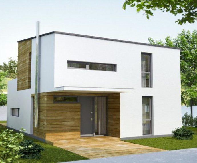 Проект двухэтажного дома с террасой V17 - фото №1