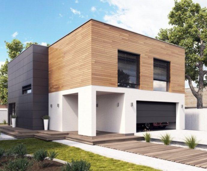 Проект двухэтажного дома с гаражом V20 - фото №1