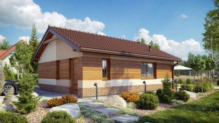 Проект одноэтажного дома с террасой P124 - фото №2