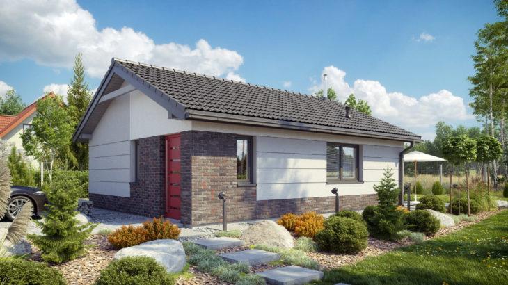 Проект одноэтажного дома с террасой P124 - фото №3