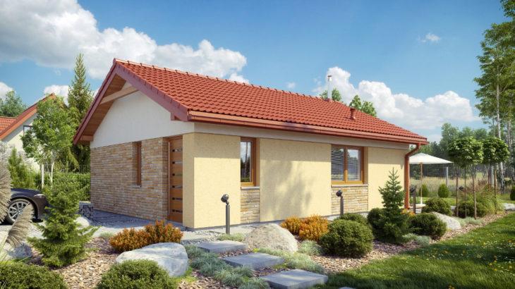 Проект одноэтажного дома с террасой P124 - фото №4