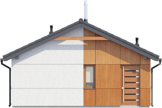Фасад одноэтажного дома с террасой P124 - вид спереди