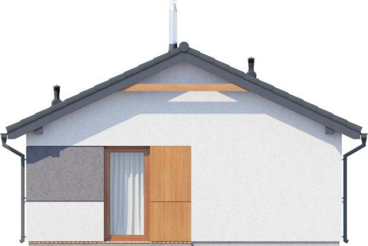 Фасад одноэтажного дома с террасой P124 - вид сзади