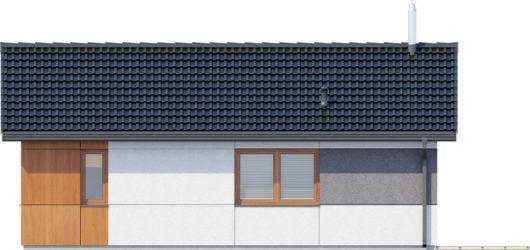 Фасад одноэтажного дома с террасой P124 - вид справа