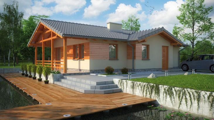 Проект одноэтажного дома с террасой P126 - фото №2