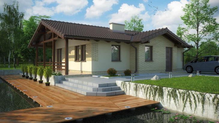 Проект одноэтажного дома с террасой P126 - фото №3