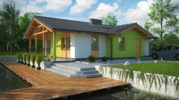 Проект одноэтажного дома с террасой P126 - фото №4