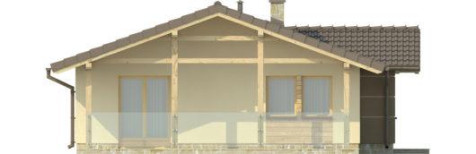Фасад одноэтажного дома с террасой P126 - вид слева