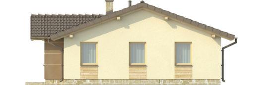 Фасад одноэтажного дома с террасой P126 - вид справа