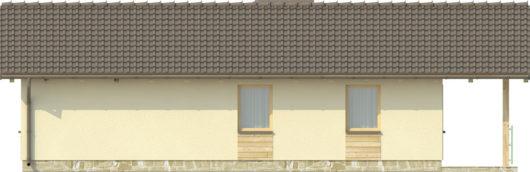 Фасад одноэтажного дома с террасой P126 - вид сзади