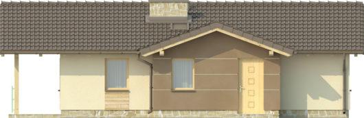 Фасад одноэтажного дома с террасой P126 - вид спереди