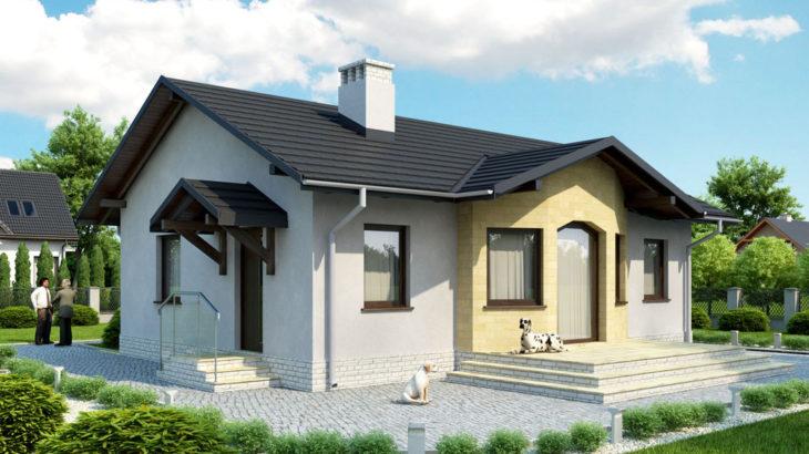 Проект одноэтажного дома с террасой P128 - фото №3