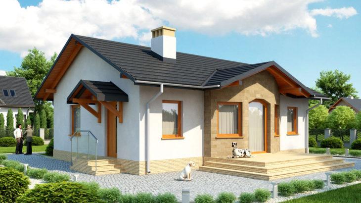 Проект одноэтажного дома с террасой P128 - фото №4