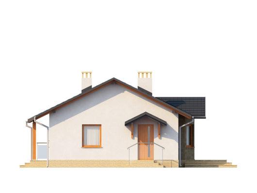 Фасад одноэтажного дома с террасой P128 - вид слева