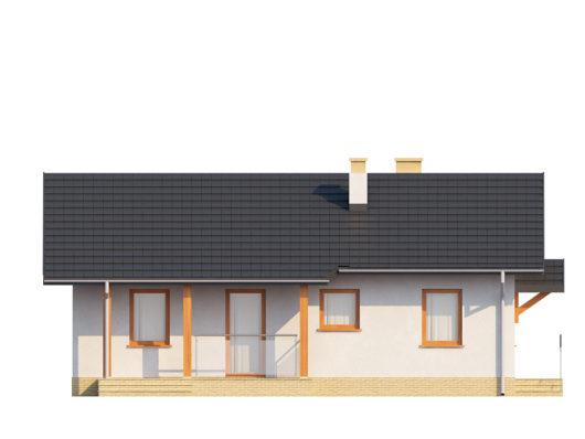 Фасад одноэтажного дома с террасой P128 - вид спереди