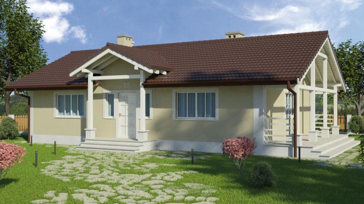 Проект одноэтажного дома с террасой P130 - фото №4