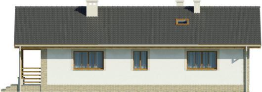 Фасад одноэтажного дома с террасой P130 - вид сзади