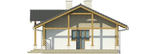 Фасад одноэтажного дома с террасой P130 - вид слева