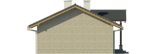 Фасад одноэтажного дома с террасой P130 - вид справа