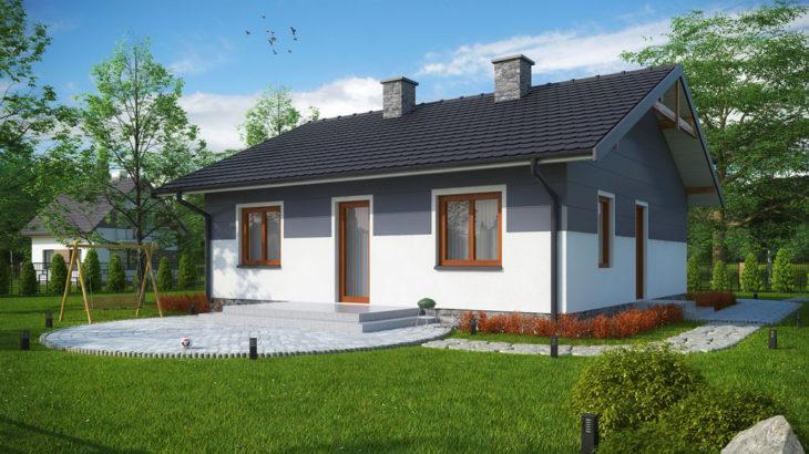 Проект одноэтажного дома с террасой P137 - фото №3