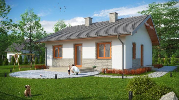 Проект одноэтажного дома с террасой P137 - фото №2