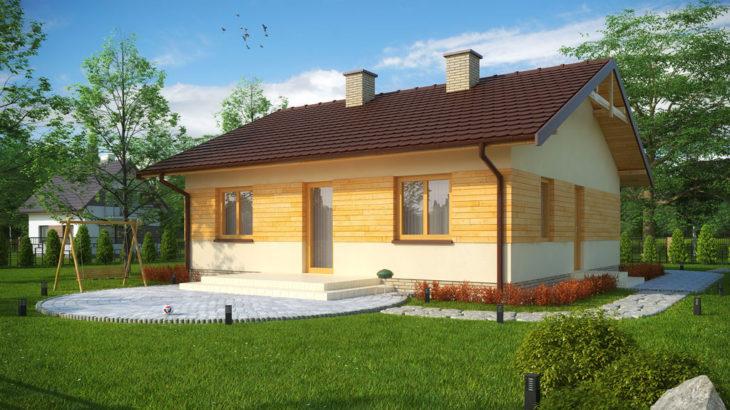 Проект одноэтажного дома с террасой P137 - фото №4
