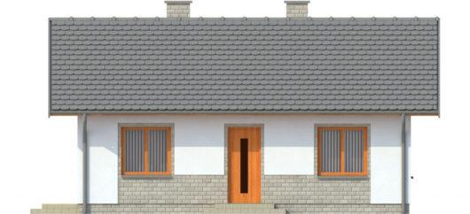 Фасад одноэтажного дома с террасой P137 - вид спереди