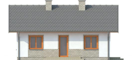 Фасад одноэтажного дома с террасой P137 - вид сзади