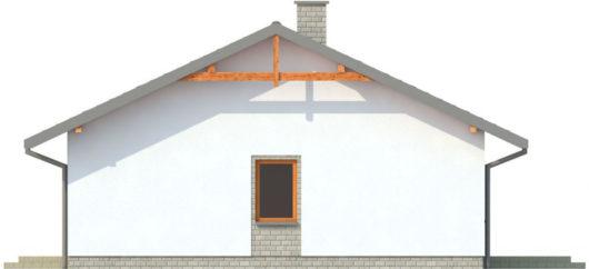 Фасад одноэтажного дома с террасой P137 - вид справа