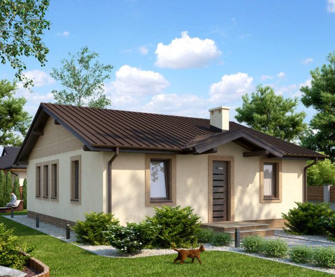 Проект одноэтажного дома P140 - фото №1