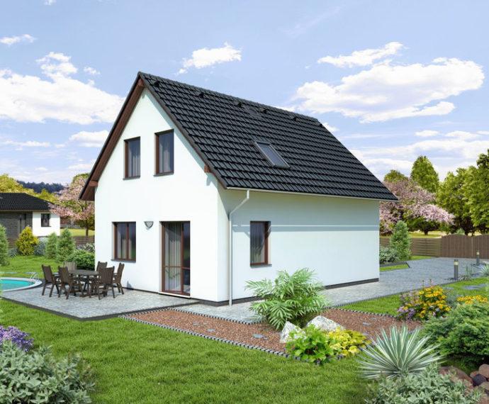 Проект мансардного дома с террасой S61 - фото №2