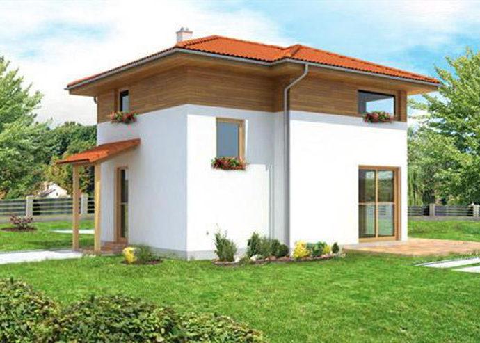 Проект двухэтажного дома V22 - фото №1