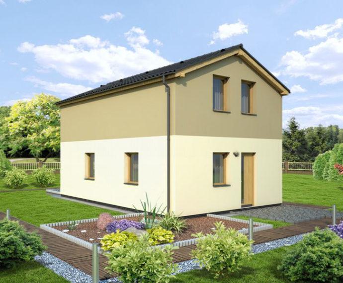 Проект двухэтажного дома с террасой V24 - фото №1