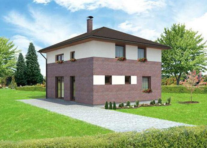 Проект двухэтажного дома V28 - фото №1