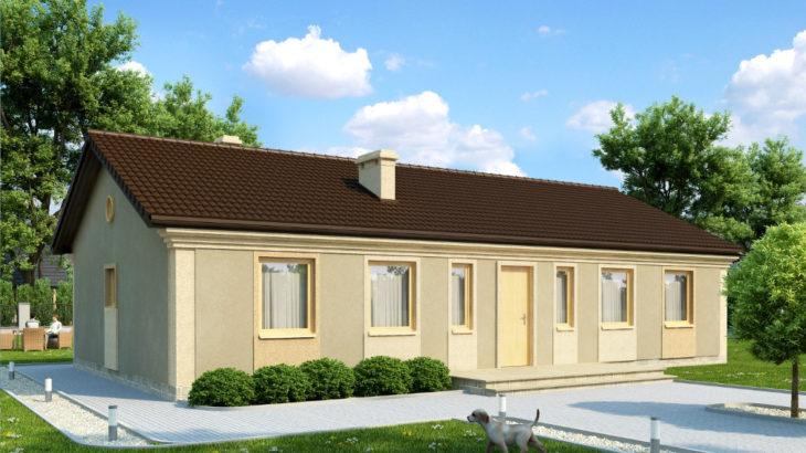 Проект одноэтажного дома с террасой P158 - фото №4