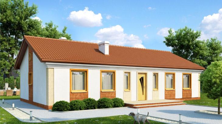 Проект одноэтажного дома с террасой P158 - фото №3