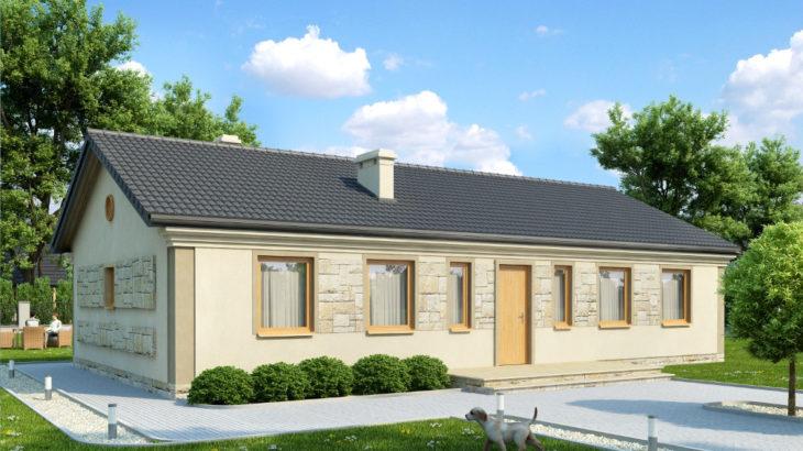 Проект одноэтажного дома с террасой P158 - фото №2