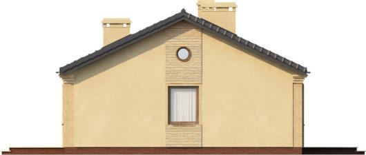 План этажа одноэтажного дома с террасой P158 - вид слева