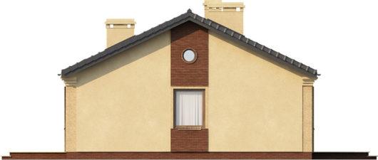 План этажа одноэтажного дома с террасой P158 - вид справа