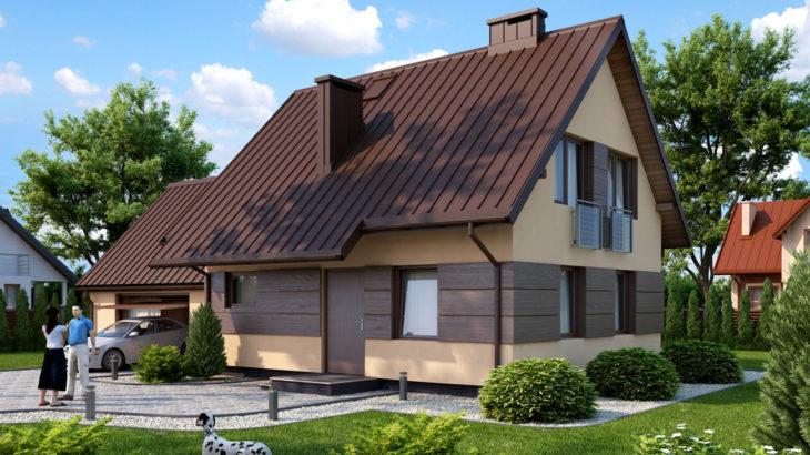 Проект мансардного дома с гаражом S104 - фото №2