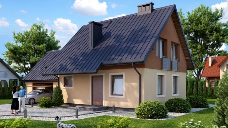 Проект мансардного дома с гаражом S104 - фото №3