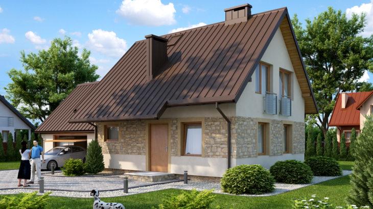 Проект мансардного дома с гаражом S104 - фото №4