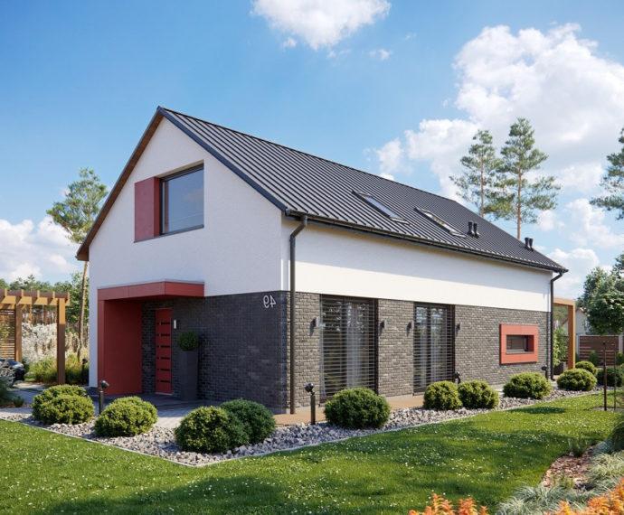 Проект мансардного дома с террасой S105 - фото №1