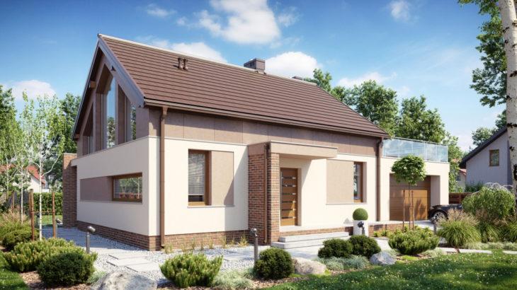 Проект мансардного дома с террасой и гаражом S108 - фото №3