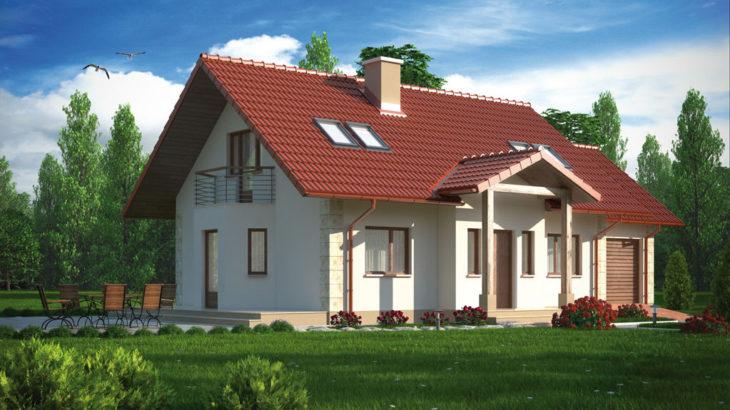 Проект мансардного дома с террасой и гаражом S109 - фото №2