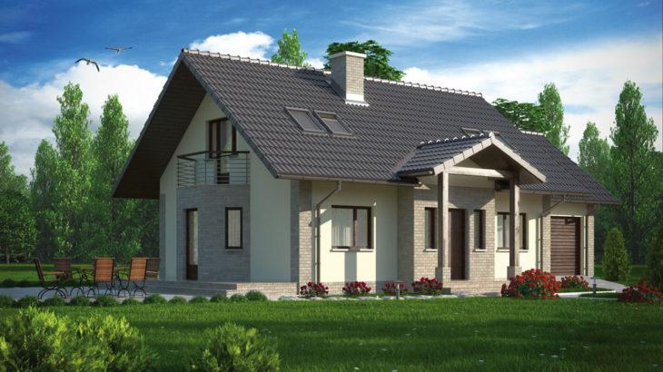 Проект мансардного дома с террасой и гаражом S109 - фото №3