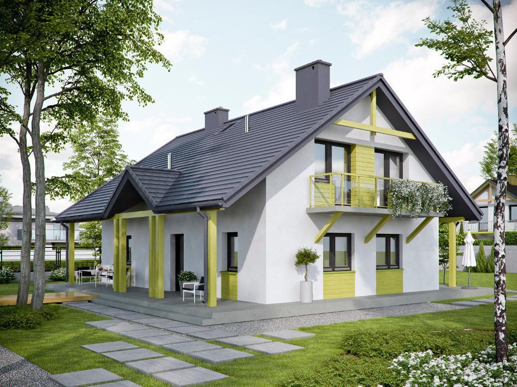 штатные головные красивые фасады домов с мансардой фото клиентов