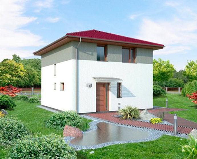 Проект двухэтажного дома V25 - фото №1