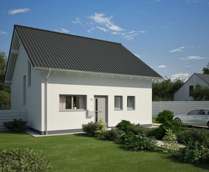 Проект мансардного дома S66 - фото №1