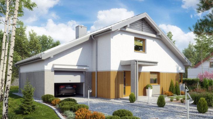 Проект мансардного дома с террасой и гаражом S75 - фото №3